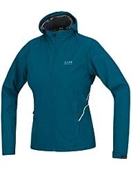 GORE RUNNING WEAR 2 in 1 Damen Laufjacke, Abnehmbare Ärmel und Kapuze, GORE WINDSTOPPER, ESSENTIAL LADY 2.0 WS AS Zip-Off Jacket, JWESZL