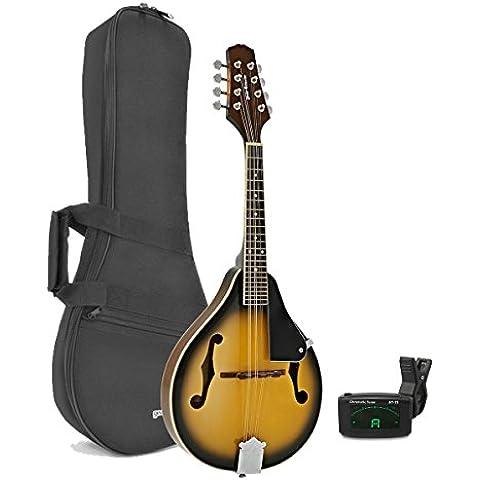 Pack di mandolino di Gear4music Vintage Sunburst