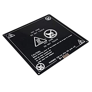 AptoFun Mk3 Aluminium 3D Printer Heated Bed 220 x 220 x 3 mm 385 g with Round Corners for Reprap 3D Printer