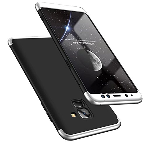 Galaxy A8 2018 Hülle, 3 in 1 Handyhülle Ultra Dünn Hartschale 360 Grad Full Body Schutz Case Schutzhülle Anti-Kratzer Hart PC Cover für Galaxy A8 2018-5.6