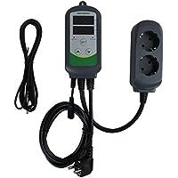 Inkbird ITC-308S Digitale Temperaturregler Thermostat Dual Steckerthermostat mit NTC-Temperatursensor