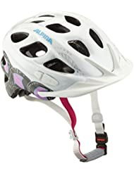Alpina Unisex - Kinder Fahrradhelm Rocky, white-pink-titanium, 52-57, A9629.1.21