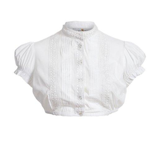 Dirndlbluse Sissi in Weiß von Almsach Weiß