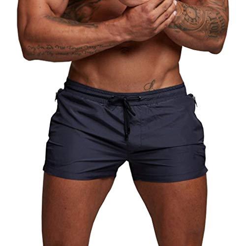 Yying Bañador Hombre Sexy Slim Pantalones Cortos Secado Rápido Interior de Malla Bañadores Natacion...