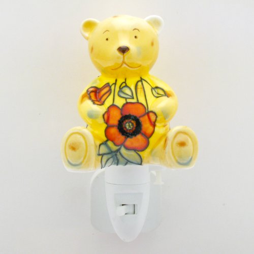 Old Tupton Ware - Yellow Poppy Design Teddy Bear Night Light . Free UK Delivery