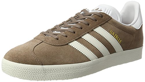 adidas Gazelle, Sneaker Uomo Marrone (Trace Brown/off White/footwear White)