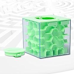 Lustige Geldgeschenke Verpackung Geburtstag, Labyrinth, Abschließbar Spardose - perfekte 3 in 1 Geldlabyrinth für Kinder & Erwachsene (Grün)