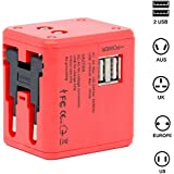 Spartan Universal Adapter Worldwide Travel Adapter with Built in Dual USB Charger Port
