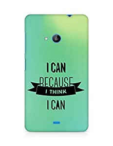 Amez I Can because I Think Back Cover For Microsoft Lumia 535