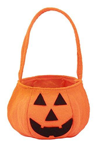 EOZY Halloween Kürbis Tasche Kinder Süßigkeiten Tasche Kids Lustige Korb Handtasche