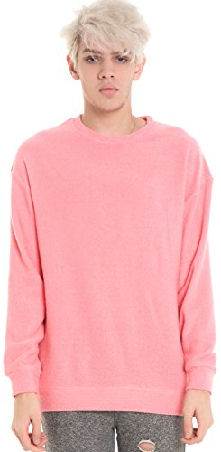 Pizoff Uomo Hip Hop Urban Basic Pink Maglione Y1567-Pink-S