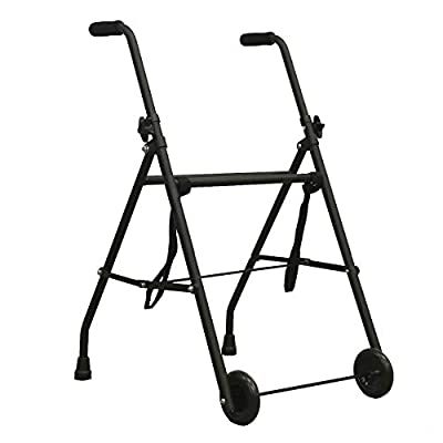 PEPE - WALKER, Walking frame with wheels, Walker for Adults, Walkers for elderly, Walking frames for elderly, Foldable rollator with 2 wheels made of aluminium