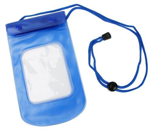 Wasserdichte Umhängetasche in blau für Ihr ELEGIANT 8GB als auch EIVOTOR 8GB Stereo Diktiergerät | Digital Voice Recorder | Digital Audiorekorder | Aufnahmegerät | Sprachaufnahme mit LCD-Bildschirm MP3 Player - von DuraGadget (Wasserdicht Meeres Stereo)