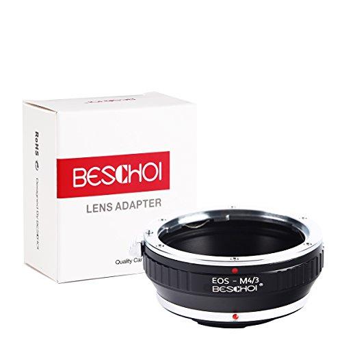 Beschoi Authority EOS-M4/3 Objektiv Adapter Ring Objektivadapter für Canon EOS Objektiv auf M4/3 MFT Olympus PEN E-P1 P3 PL1s PL2 PM2 und Panasonic Lumix DMC-GH1 GH2 GX7 G1 GF1 GX1