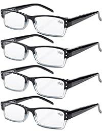Eyekepper 4-Pack di qualità della molla Cerniere Half-Rim occhiali da lettura includono lettori di Computer +0.75