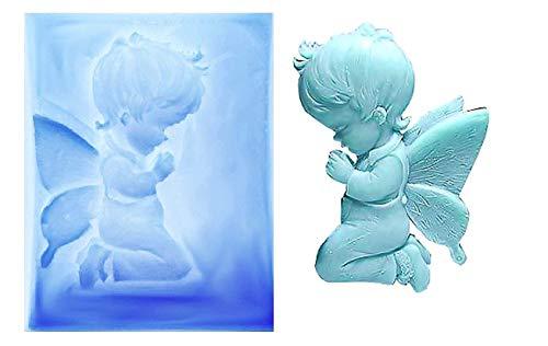 Inception pro infinite stampo in silicone per uso artigianale angelo bambino che prega - adatto anche per sapone