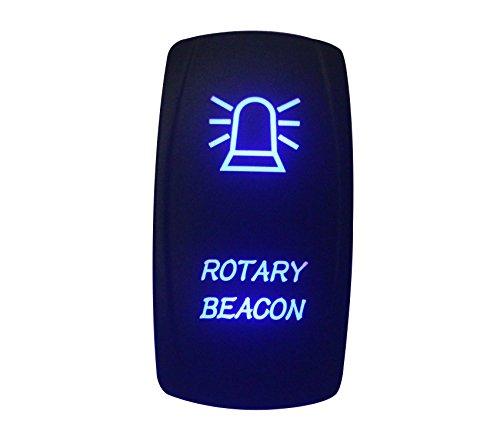 bandc 12V/24V Laser geätzt Rotary Beacon Wippschalter Blau LED 5Pins SPST ON-OFF-für Carling Narva ARB Stil Ersatz Wasserdicht IP66Marine Grade -