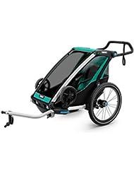 Thule Chariot Lite 1 Blue Grass/Black Fahrradanhänger für 1 Kind