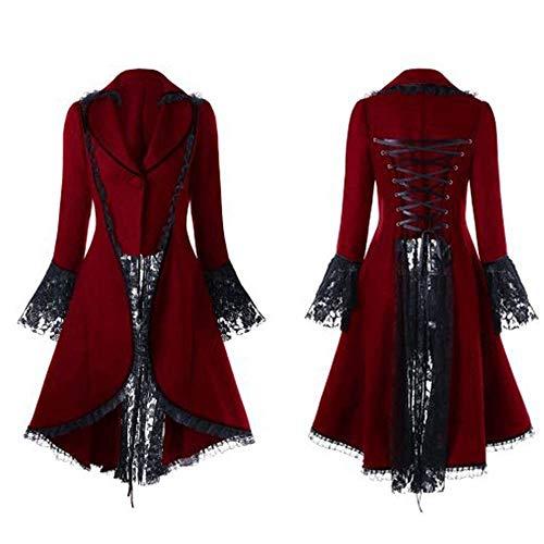 Malloom-Bekleidung Herren Jacke Frack Steampunk Gothic Gehrock Uniform Cosplay Kostüm Smoking Mantel Retro Viktorianischen Langer Uniformkleid Plus Size Männer Langarm