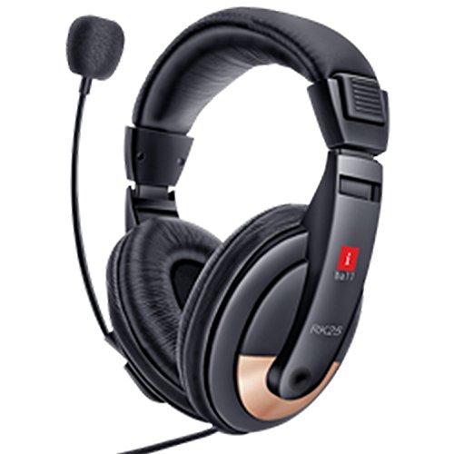 iBall RK25 Multimedia Headphones with Mic (Black)