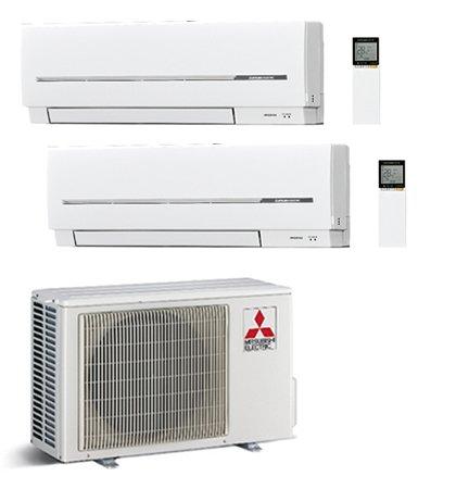 Climatizador Mitsubishi Electric Dual Split Inverter Serie SF 9000+ 18000con mxz-2d53va
