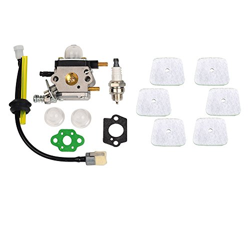 OuyFilters C1U-K54A Carburetor With Gasket Fuel Repower Kit Spark Plug Air Filter For Echo Mantis Tiller 7222 7225 7230 7234 7240 7920 Cultivator -
