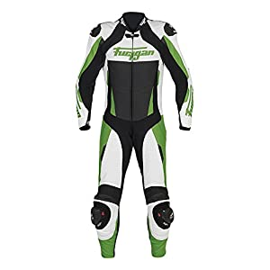 Furygan Leather Suit Full Apex, White/ Green, Size 54