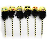 Best Party Supplies Pens - 6 Emoji Fluffy Designs Pens Kids Party Bag Review