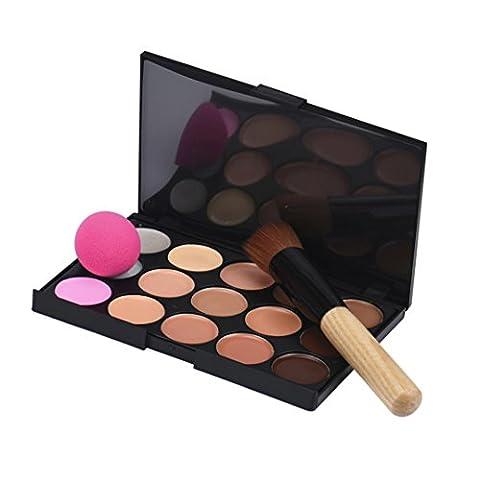 FEITONG 15 Farben Make-up Concealer Form Palette + 1 stück