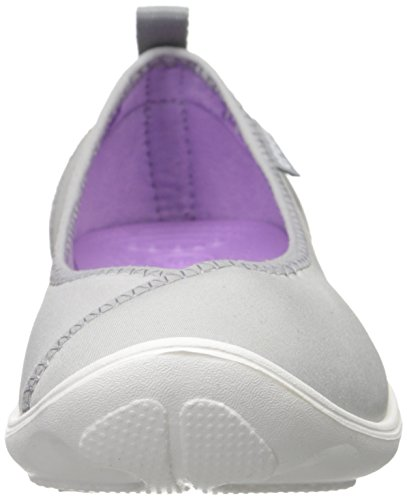 Crocs Duet Busy Day, Sandales femme Gris (Light Grey/White)