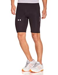Under Armour UA Run Compression 1238957-005, Pantalones Cortos De Compresión Para Hombre, Negro (Black/Reflective), S