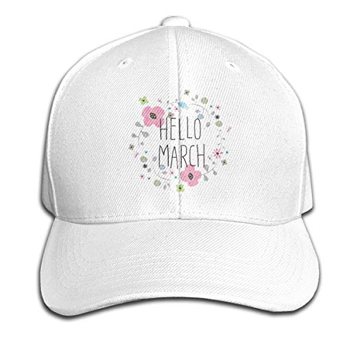 Osmykqe Hello March Sping Unisex Sommer Sonnenhut einstellbar lässig Golf Tennis Caps