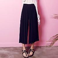 WJP Pantalones casuales de los pantalones flojos del color puro de las mujeres coreanas de la ropa del verano,segundo,XS