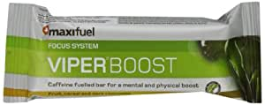 Maxifuel Viper Boost Mental and Physical Energy Bars - Fruit and Cereal, 45 g, Box of 12