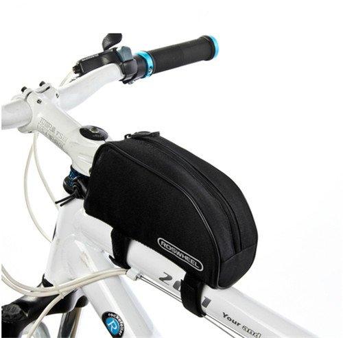 Roswheel Mountain Bike MTB Fahrrad Rennrad Tasche Rahmentasche Oberrohrtasche Schwarz