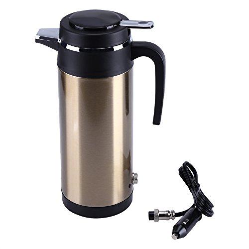 Eboxer 800mL 12V Tragbare in-Auto-Edelstahl-Elektrische Heizungs-Schale,Wasser-Bettler-Reise-Gebrauch Kocht für Tee,Kaffee Machen,für Außer Aktivitäten (Tee Warmwasserbereiter Für)