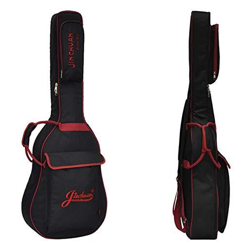 Gitarrentasche Schwarzes aufgefülltes 39/41 Zoll-Gitarrentasche-Trageetui - Durable Hochwertige wasserdichte Schutzhülle für akustische klassische und elektrische Gitarren ( Größe : 39inch ) -