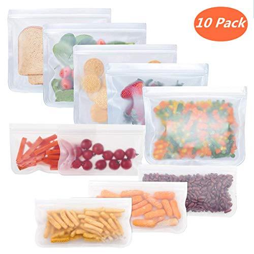 Bolsas almacenamiento alimentos reutilizables, bolsas