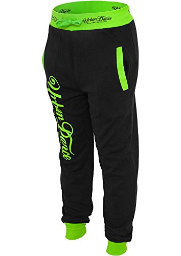 UD051 uD academy pantalon de jogging pour femme blk/neongreen
