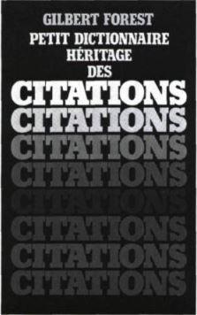 DICTIONNAIRE DES CITATIONS QUEBECOISES