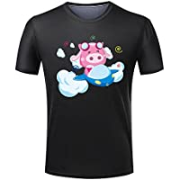 The piglet driving the plane for Men 's cotton T-shirt-L