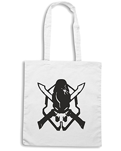 T-Shirtshock - Borsa Shopping TGAM0033 Halo Legendary Bianco