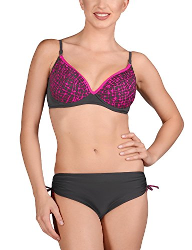 Marko Harriet M-272 comodissimo bikini di due pezzi con anteriore che forma il seno perfettamente grigio-rosa