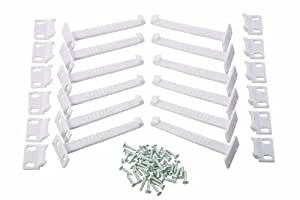 Dreambaby Safety Catches - Extra Value (Pack Of 12, White)