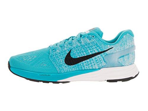 Nike Damen Lunarglide 7 Laufschuhe, Anthrct-SL-TR Yllw-Hypr Orng, Pointure Azul (Gamma Blue / Black-White)