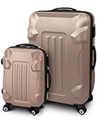 """Kofferset M + XL 2-teilig Reisekoffer Trolley Hartschalenkoffer ABS Teleskopgriff Modell """"Armor"""""""