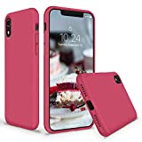 SURPHY Coque iPhone XR, Silicone Liquide Thicken Bumper Case de Protection avec...