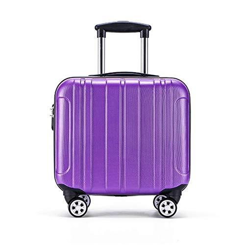 HONGSHENG Mini Trolley Case-16 Zoll wasserdicht und Wear-resistente Anti-Vibration-Koffer,Purple