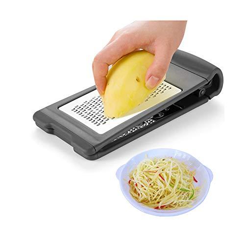 xihewk Edelstahl-Mehrzweck-doppelseitige stehende Kartoffelreibe für Gemüse Käsereibe Küchenwerkzeug Rettichreibe