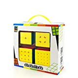 OJIN MoYu MOFANGJIAOSHI Cubing Classroom MFJS Specific Speed Cube Bundle 2x2 3x3 4x4 5x5 Bright Magic Cube Smooth Puzzles Cube Set with Gift Packing + Four Cube Tripods (Sin Etiqueta)